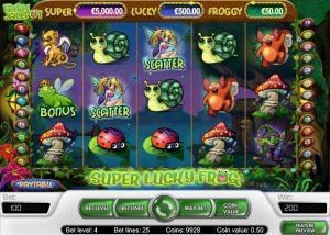 Super Lucky Frog Vídeo Caça Níquel Imagem do Jogo
