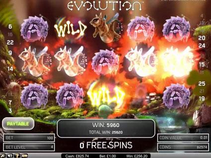 Evolution Vídeo Caça-Níqueis Screenshot